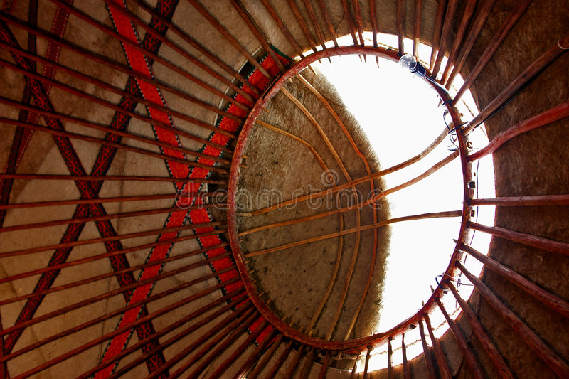 Download Yurt roof interior stock photo. Image of architecture - 6853094