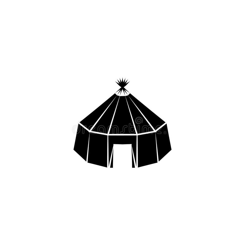 Yurt-Symbol-Zeichenvektor lizenzfreie abbildung