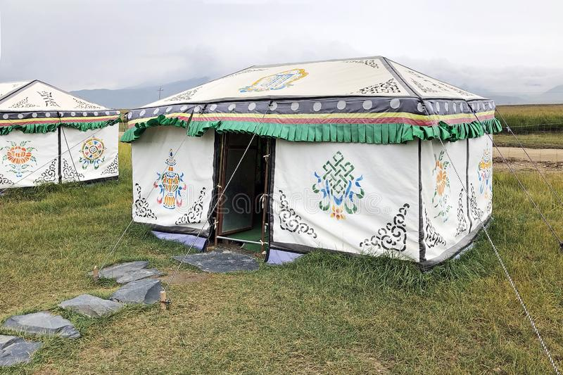 Yurt Tent. Nomad Mongolian Hut royalty free stock photos