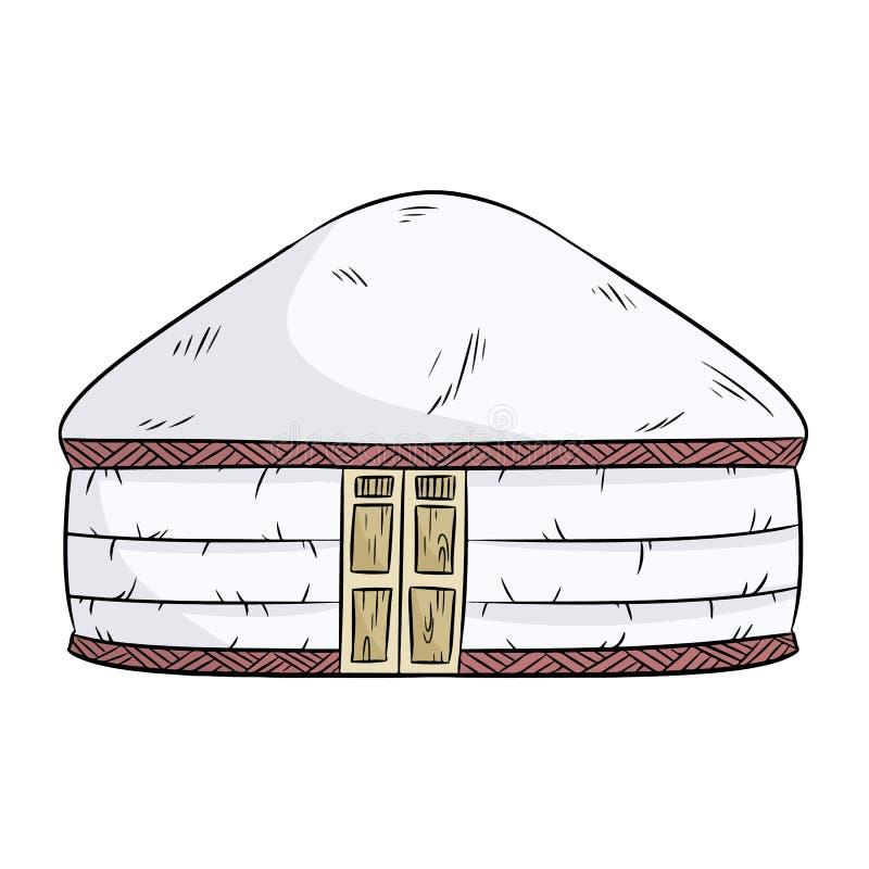 Yurta dei nomadi Illustrazione della casa del yurt della tenda del nomade del Turco illustrazione vettoriale