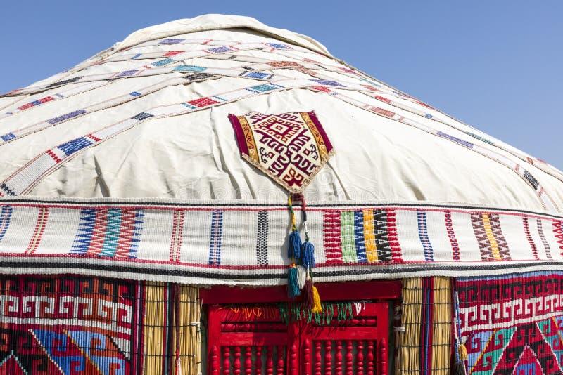 Yurts στο Ουζμπεκιστάν, τις παραδοσιακά τέχνες και τα σχέδια στοκ φωτογραφίες