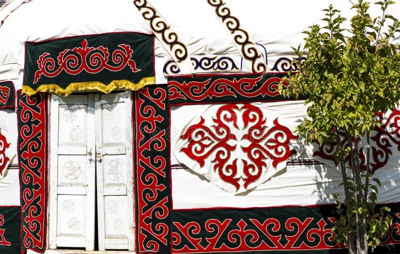 Yurts στο Ουζμπεκιστάν, τις παραδοσιακά τέχνες και τα σχέδια στοκ φωτογραφία με δικαίωμα ελεύθερης χρήσης