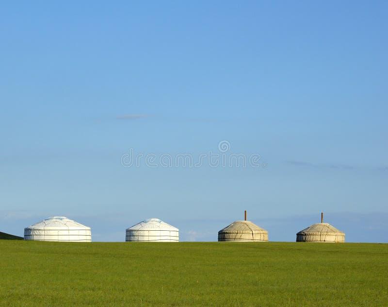 yurts στοκ εικόνα