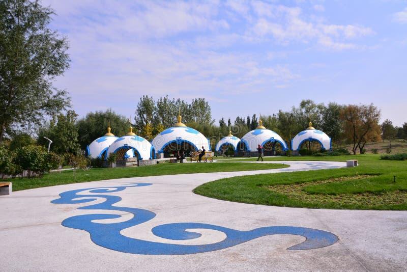 Yurts do Mongolian fotografia de stock