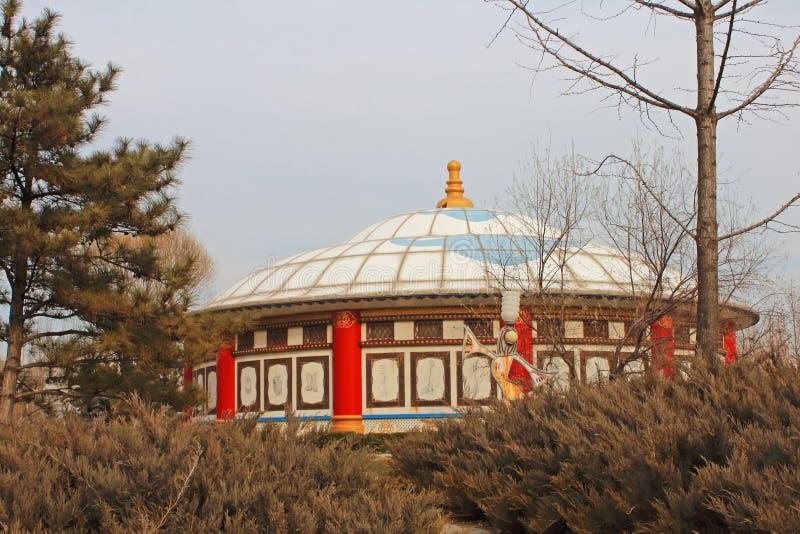 Yurts mongols images libres de droits