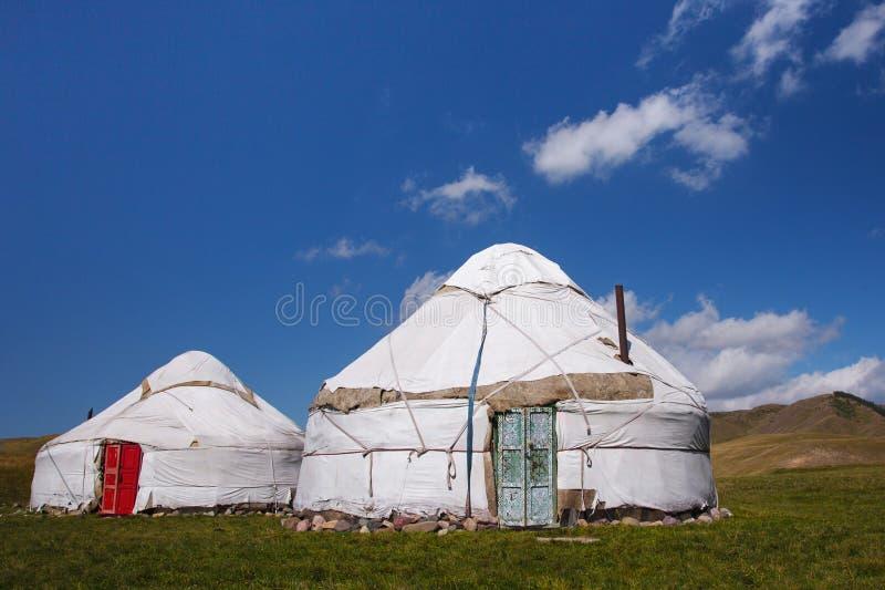 Yurts. National dwelling of nomadic peoples of Asia stock photos