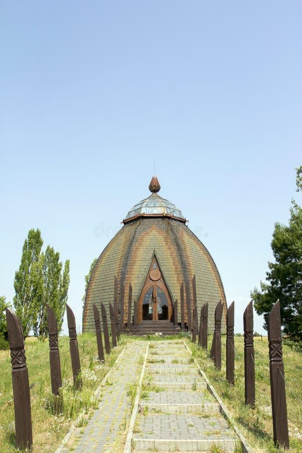 Yurts nel opusztaszer immagini stock libere da diritti