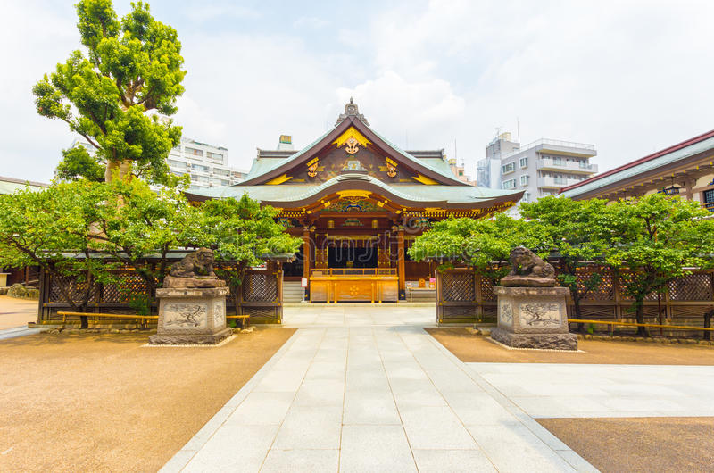 Yushima Gu świątyni Frontowy wejście Centrowany H obrazy royalty free