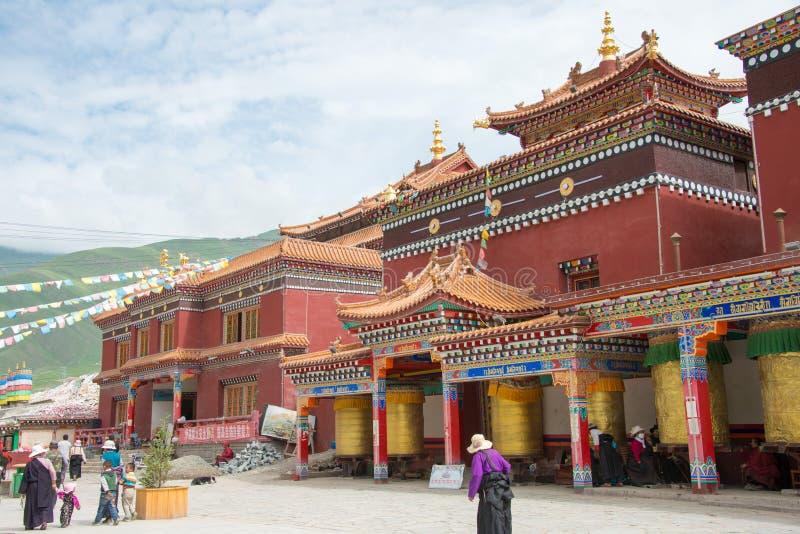 YUSHU(JYEKUNDO), CHINA - Jul 13 2014: Mani Temple(Mani Shicheng). a famous landmark in the Tibetan city of Yushu, Qinghai, China. royalty free stock images