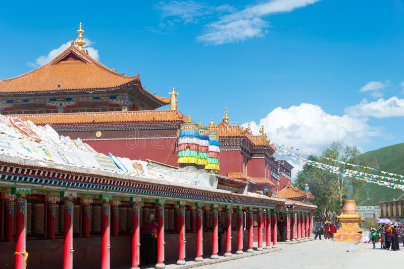 YUSHU (JYEKUNDO), CHINA - 12. Juli 2014: Mani Temple (Mani Shicheng) stockfotografie