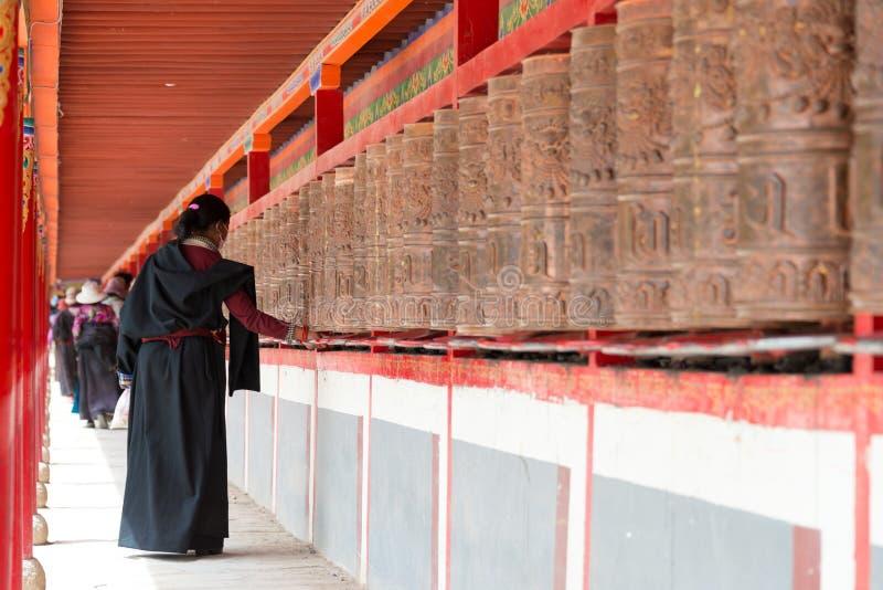 YUSHU (JYEKUNDO), CHINA - 13 Juli 2014: Mani-wiel, Mani Temple (Ma royalty-vrije stock foto