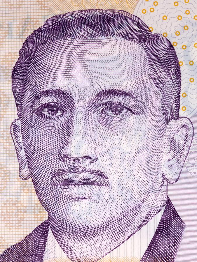 Yusof Ishak portrait royalty free stock photos