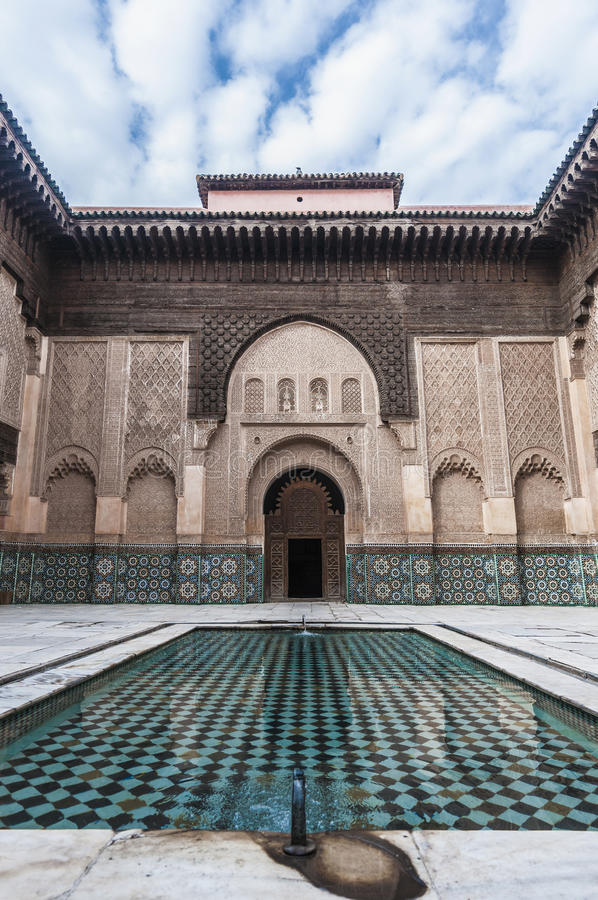yussef Марокко medersa ben marrakech стоковое изображение