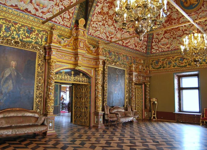 Yusupov pałac w Moskwa. Tronowy pokój. zdjęcia stock