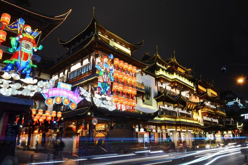 Yuyuan-Nachtansicht stockfoto