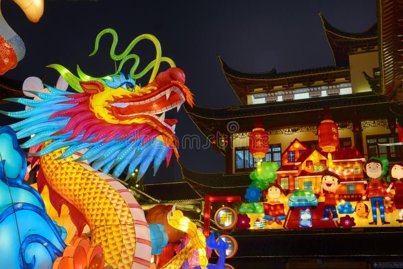 Yuyuan nattvy royaltyfri fotografi