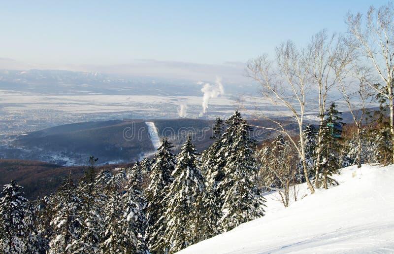 Yuzhno-Sakhalinsk, ilha de Sakhalin imagens de stock royalty free