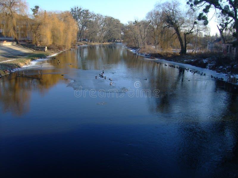 The Yuzhny Bug River. The Polesye. Vinnitsa Region. stock images