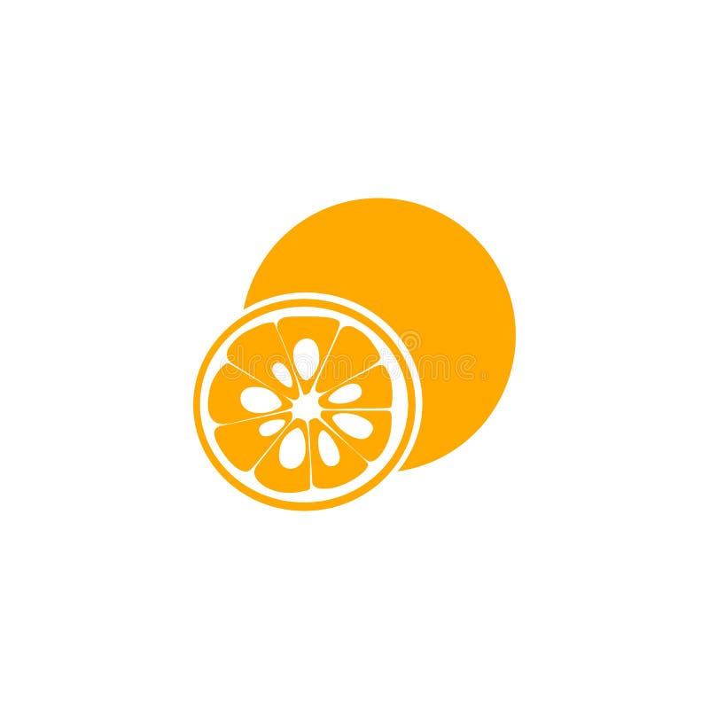 Yuzu. Japanese citron. Flat style royalty free illustration