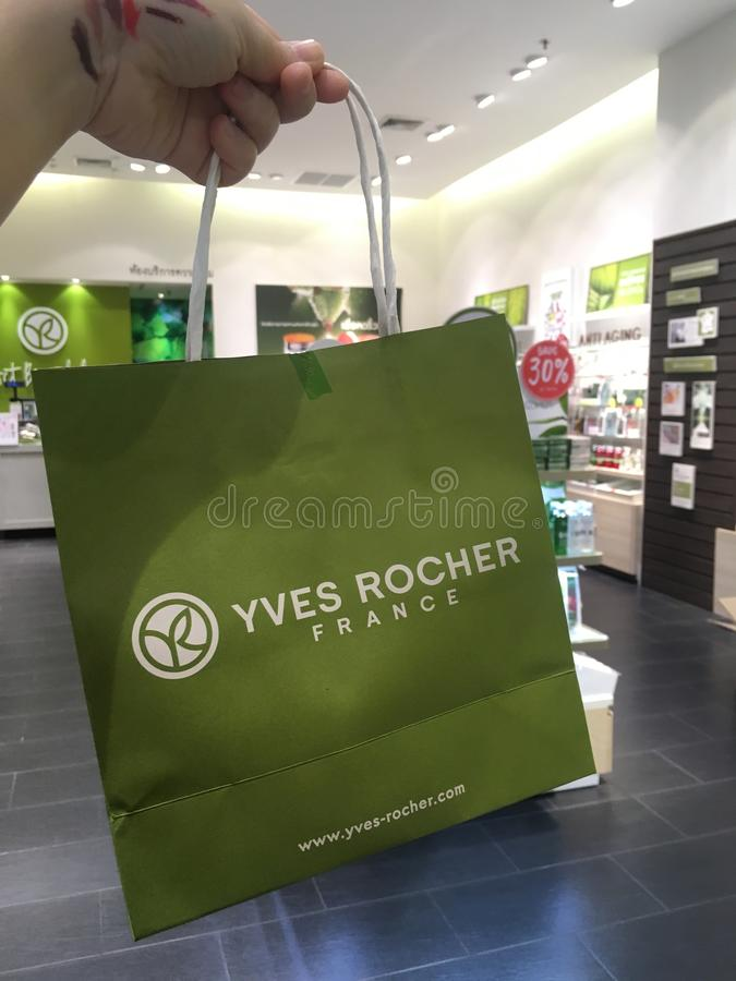 Yves Rocher 30% off promotion. stock photo