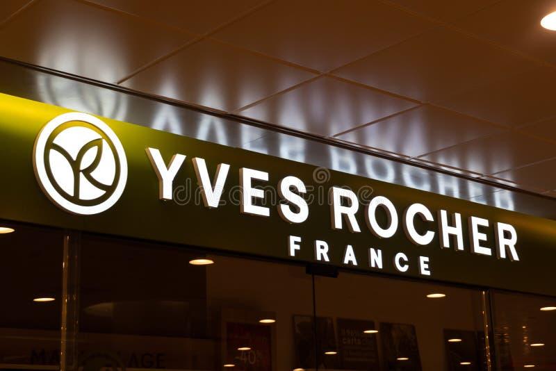 Yves Rocher-Speicher stockfoto