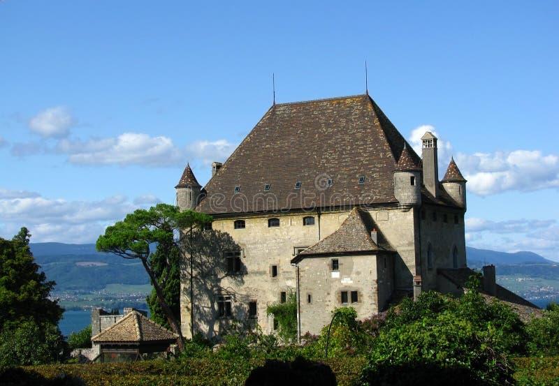 Yvoire Schloss Stockfotos
