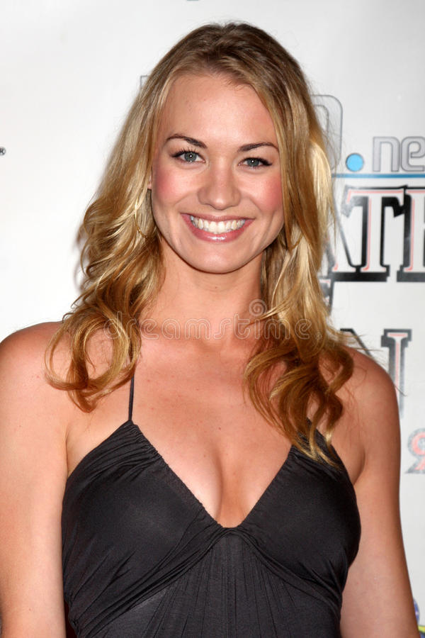 Yvonne Strahovski. Arriving at the Wrath of Con Party at the Hard Rock Hotel in San Diego, CA on July 24, 2009 2009 Kathy Hutchins / Hutchins Photo royalty free stock photography