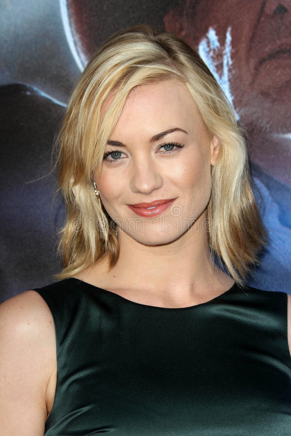 Yvonne Strahovski. At the 'Cowboys & Aliens' World Premiere, San Diego Civic Theatre, San Diego, CA. 07-23-11 royalty free stock images