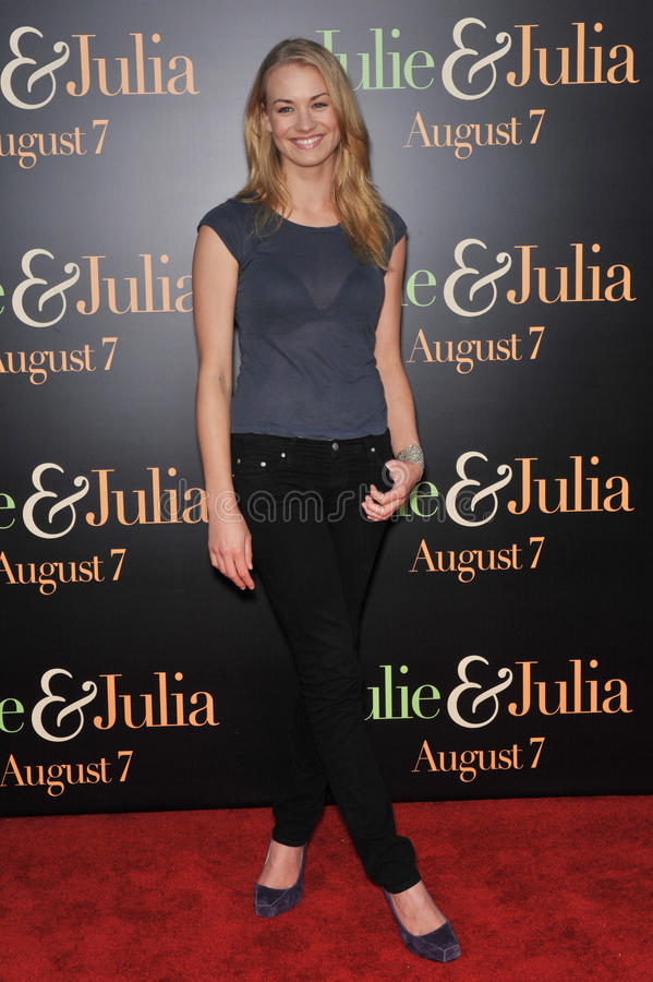 Yvonne Strahovski. At the Los Angeles premiere of 'Julie & Julia' at Mann Village Theatre, Westwood. July 27, 2009 Los Angeles, CA Picture: Paul Smith / royalty free stock photo