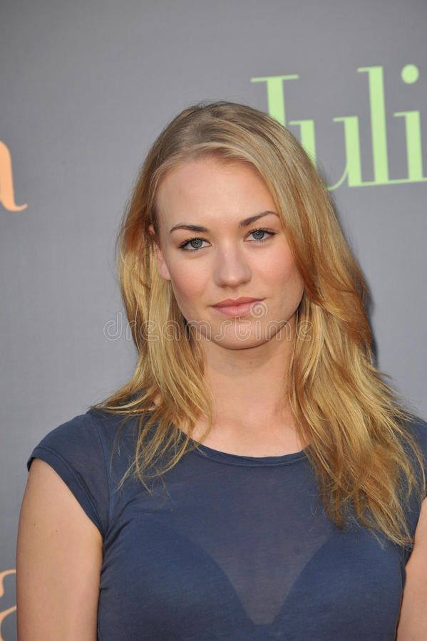 Yvonne Strahovski. At the Los Angeles premiere of 'Julie & Julia' at Mann Village Theatre, Westwood. July 27, 2009 Los Angeles, CA Picture: Paul Smith / royalty free stock images