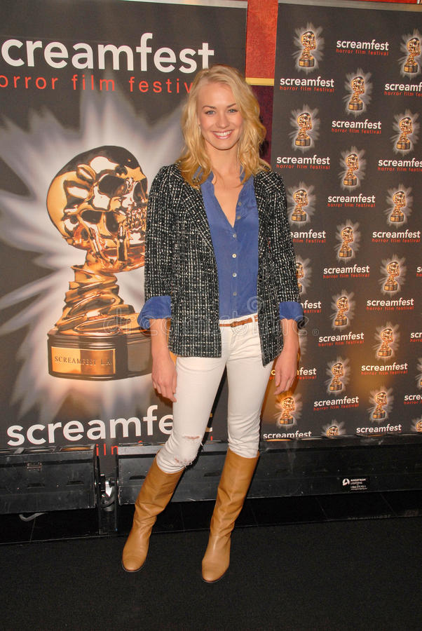 Yvonne Strahovski. At the Screamfest Premiere of The Canyon, Mann Chinese 6, Hollywood, CA. 10-20-09 stock photography