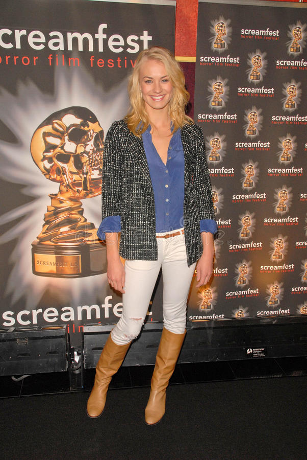 Yvonne Strahovski. At the Screamfest Premiere of The Canyon, Mann Chinese 6, Hollywood, CA. 10-20-09 royalty free stock photos