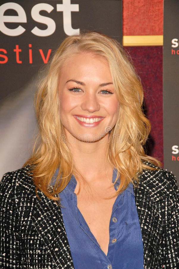 Yvonne Strahovski. At the Screamfest Premiere of The Canyon, Mann Chinese 6, Hollywood, CA. 10-20-09 stock images
