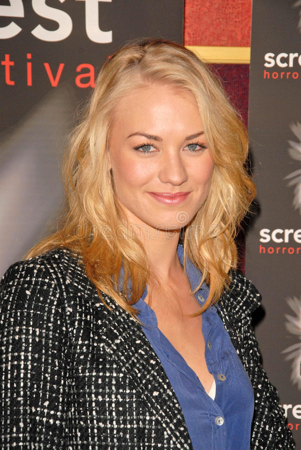 Yvonne Strahovski. At the Screamfest Premiere of The Canyon, Mann Chinese 6, Hollywood, CA. 10-20-09 royalty free stock images
