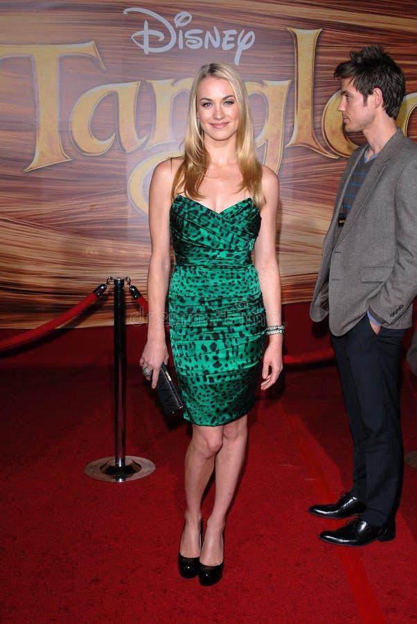 Yvonne Strahovski. At the 'Tangled' World Premiere, El Capitan Theatre, Hollywood, CA. 11-14-10 royalty free stock photo