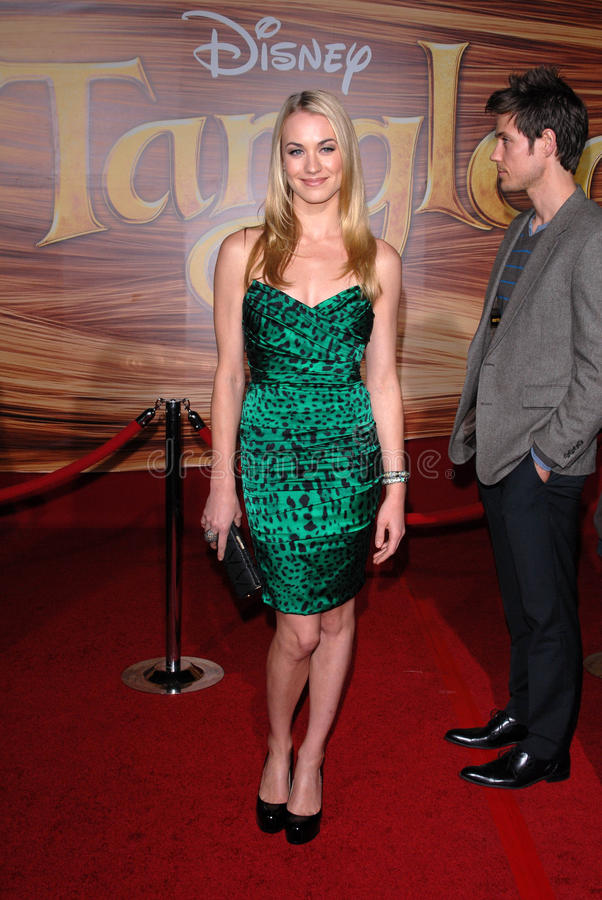 Yvonne Strahovski. At the 'Tangled' World Premiere, El Capitan Theatre, Hollywood, CA. 11-14-10 royalty free stock photography