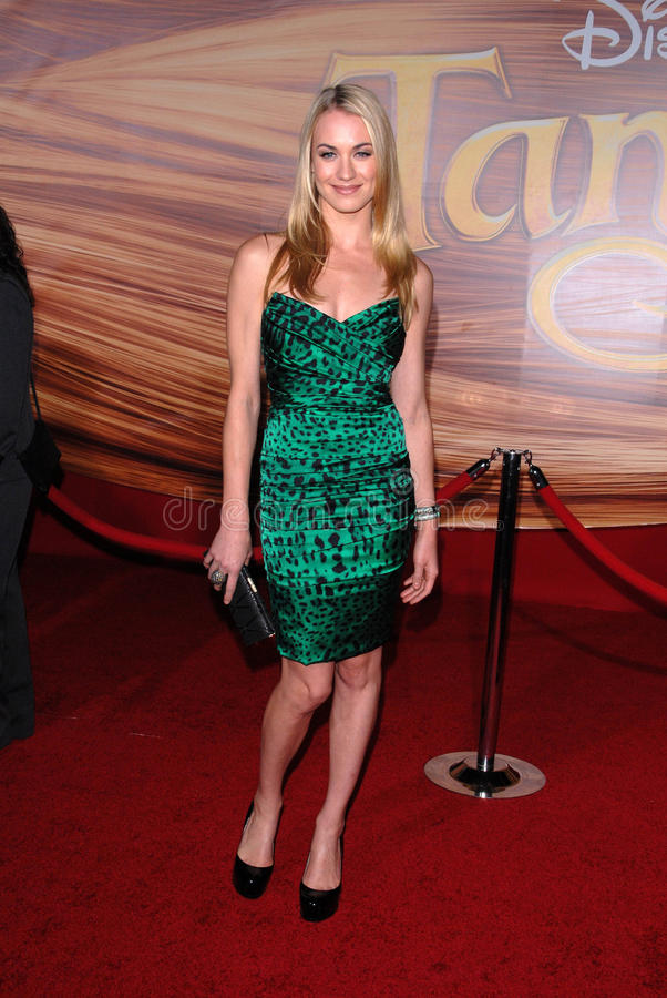 Yvonne Strahovski. At the 'Tangled' World Premiere, El Capitan Theatre, Hollywood, CA. 11-14-10 royalty free stock image
