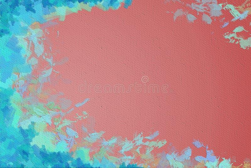 Żywego colorfull obrazu abstrakcjonistyczny tło obramiający z brushstrokes ilustracja wektor