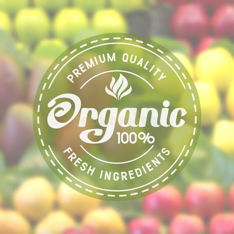 Żywność organiczna ilustracja wektor