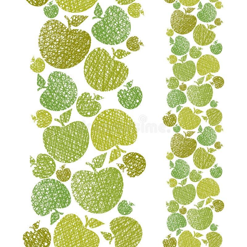 Żywność organiczna tematu bezszwowy tło, jabłko bezszwowy wzór, royalty ilustracja