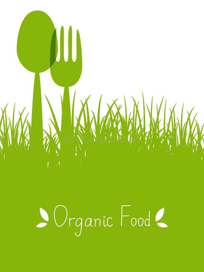 Żywności organicznej tło ilustracji