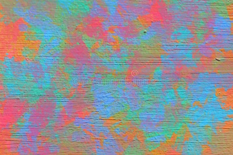 Żywy abstrakcjonistyczny obrazu tło z brushstrokes ilustracji