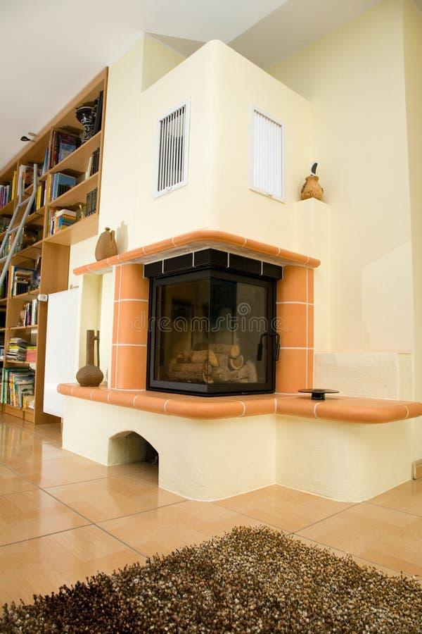 Download żywy fireplase pokój zdjęcie stock. Obraz złożonej z dywanik - 13329744