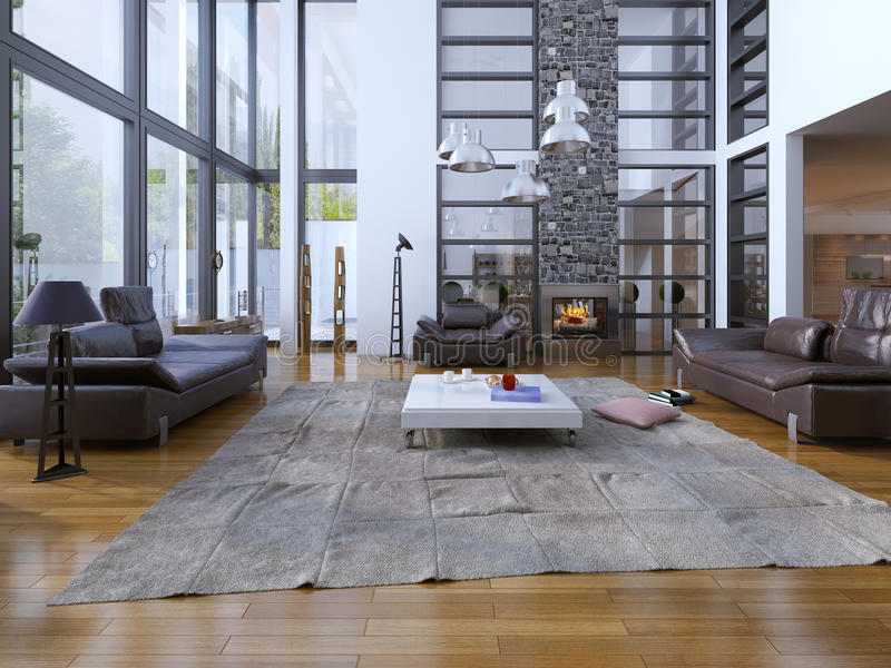Żywy izbowy loft styl zdjęcia royalty free