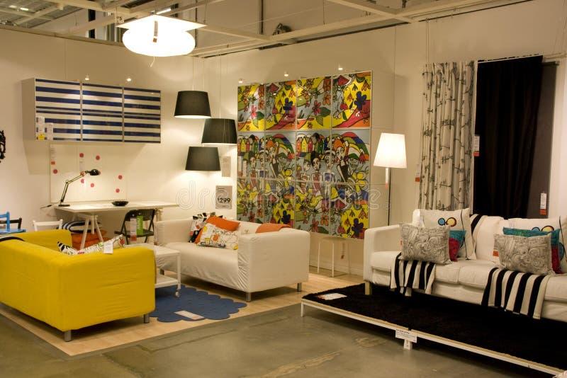 Żywy izbowy meblarski sklep obrazy stock