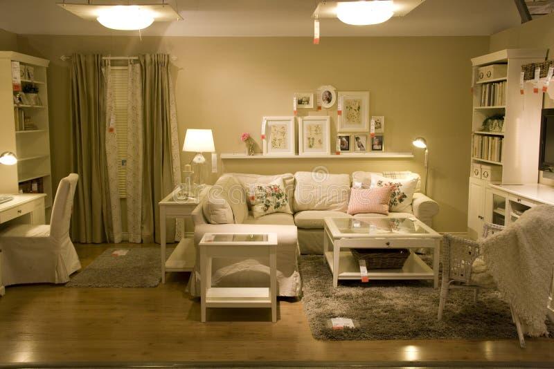 Żywy izbowy meblarski sklep obraz royalty free
