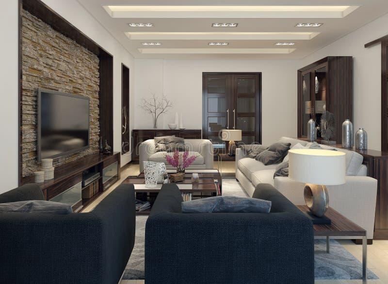 Żywy izbowy nowożytny styl royalty ilustracja
