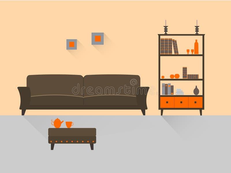 Żywy pokój 5 ilustracja wektor