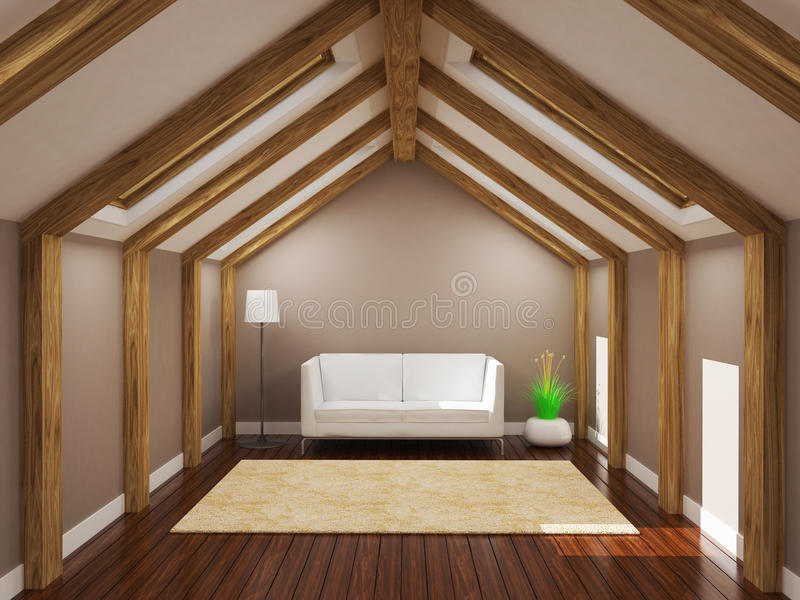 Żywy pokój, 3d rendering royalty ilustracja