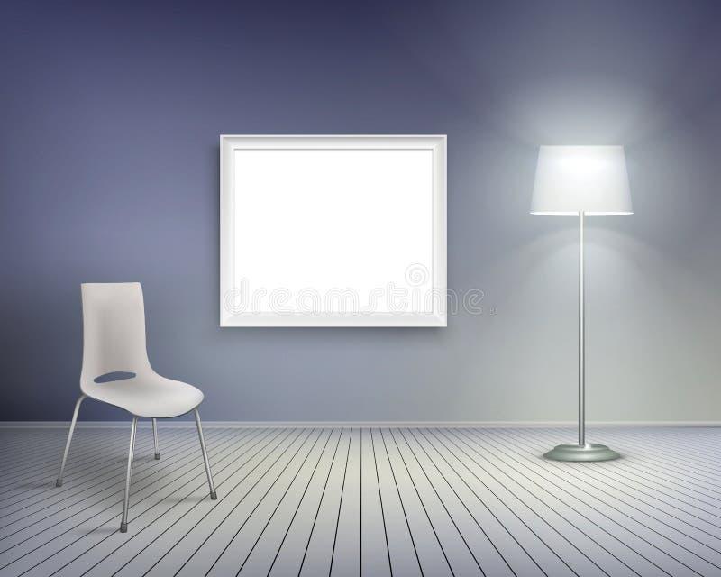 Żywy pokój. Wektorowa ilustracja. ilustracji